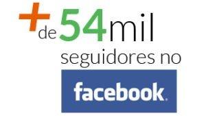 Mais de 54 mil seguidores no Facebook