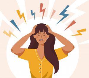 ansiedade, infelicidade, mulher estressada